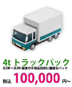 4tトラックパックは100,000円から